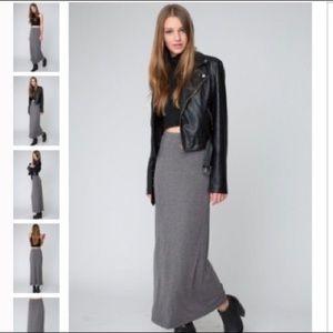 ✨ Brandy Melville Gray Maxi Skirt ✨
